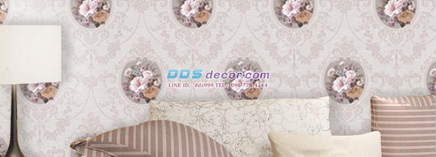 Wallpaper ลายดอกไม้หรูหรา สไตล์วินเทจ