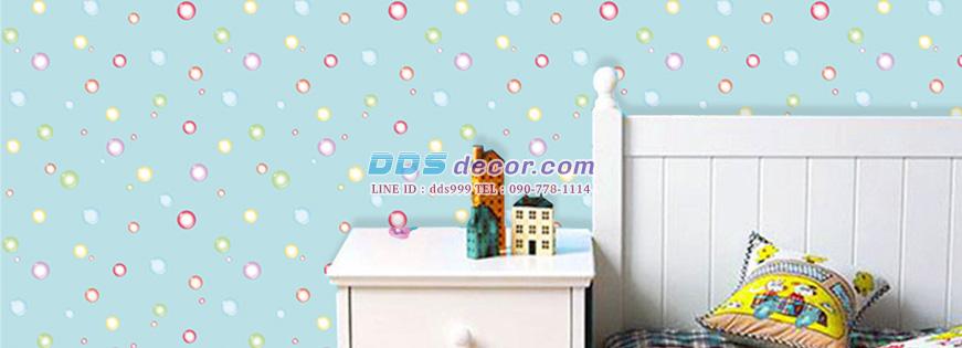 วอลเปเปอร์ตกแต่งห้อง ลายการ์ตูน Colored Bubbles