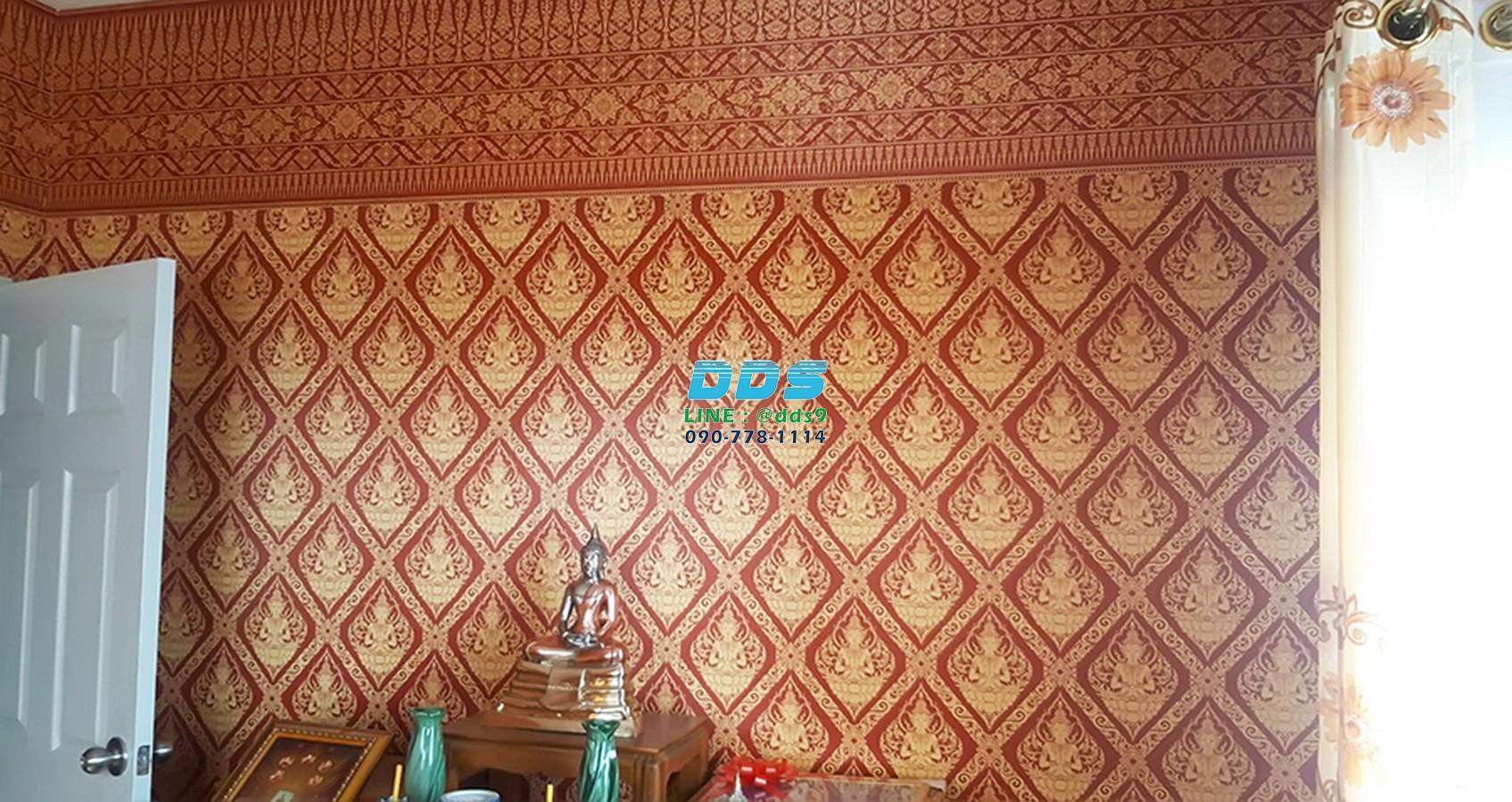วอลเปเปอร์ลายไทย ลายเทพพนม เป็นการอนุรักษ์ศิลปะวัฒนธรรมไทย