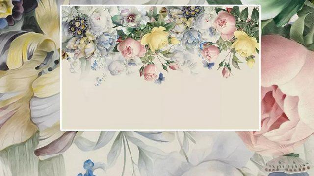 ตกแต่งห้องด้วยวอลเปเปอร์ ลายดอกไม้หลากสี3D ตกแต่งภายในบ้านหรู