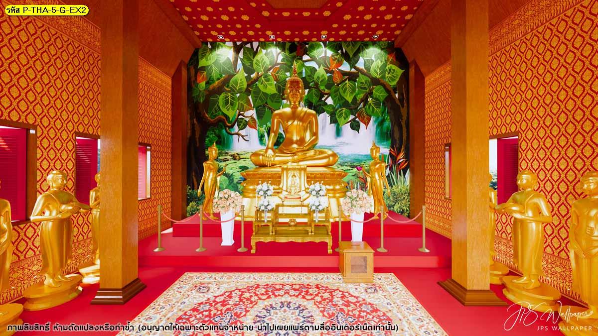 วอลเปเปอร์ลายไทย วอเปเปอร์ติดห้องพระ รับทำวอเปเปอร์ลายไทย