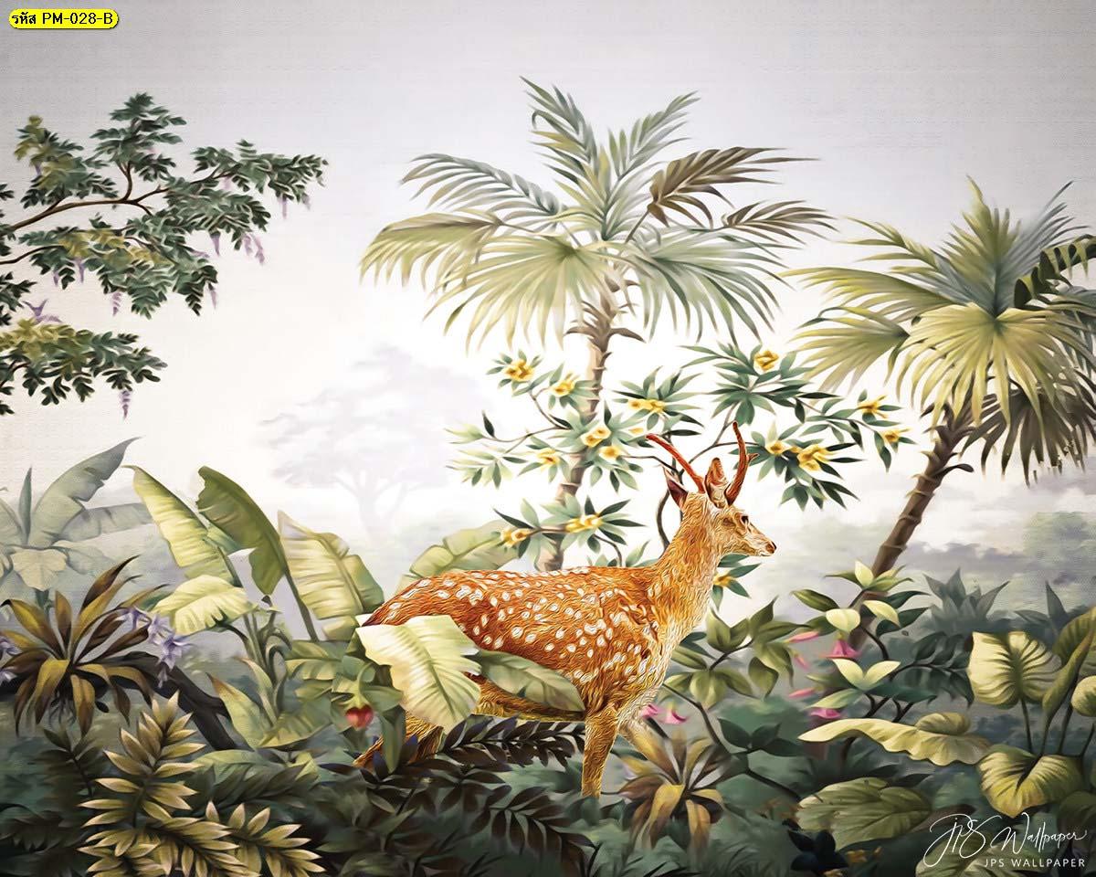 วอลเปเปอร์ติดผนังรูปป่า ภาพติดผนังสวยๆ วอเปเปอร์แต่งคอนโด