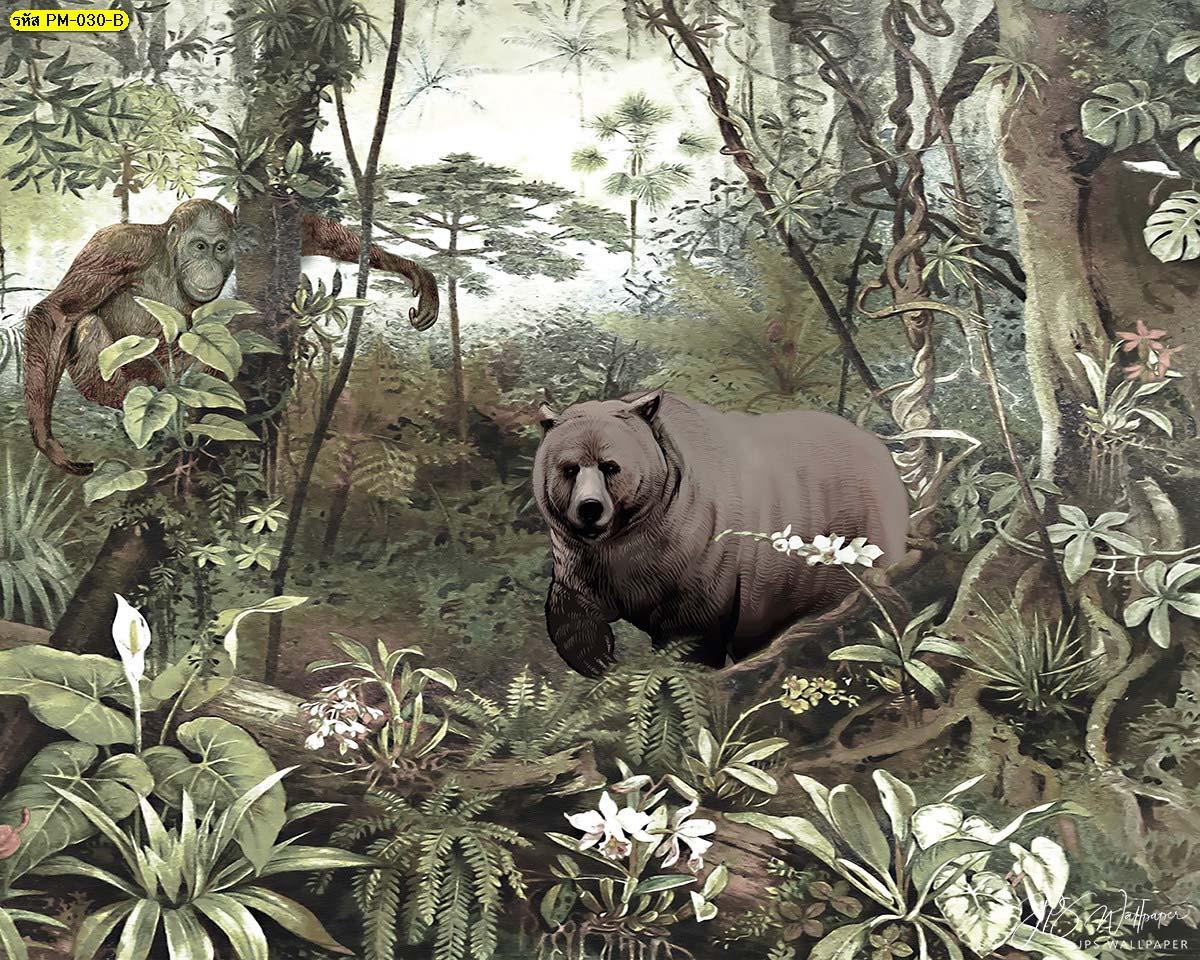 วอลเปเปอร์ติดผนังลายหมี ลายวอลเปเปอร์ยอดฮิต ไอเดียการแต่งห้องด้วยวอลเปเปอร์