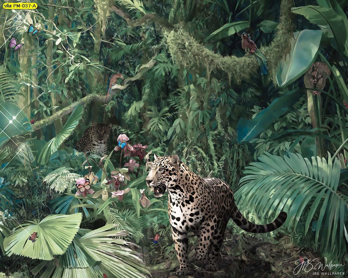 วอลเปเปอร์สวยหรู วอลเปเปอร์รูปป่า ไอเดียติดวอลเปเปอร์ห้องนอน