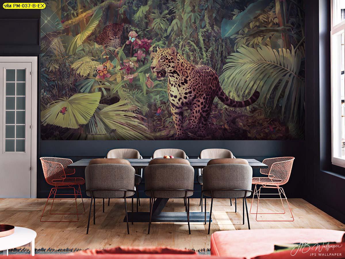 วอลเปเปอร์ติดผนังร้านอาหาร วอลเปเปอร์ติดผนังห้องรับประทานอาหาร ห้องกินข้าวโมเดิร์น