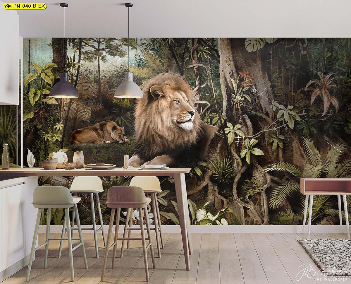 แต่งห้องกินข้าวเล็กๆ ภาพกราฟฟิกสวยๆ ภาพสั่งพิมพ์สัตว์