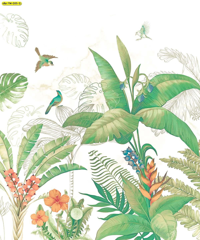 วอลเปเปอร์ติดผนังภาพวาด วอลเปเปอร์ติดผนังห้องนั่งเล่น วอลเปเปอร์ติดผนังดอกไม้