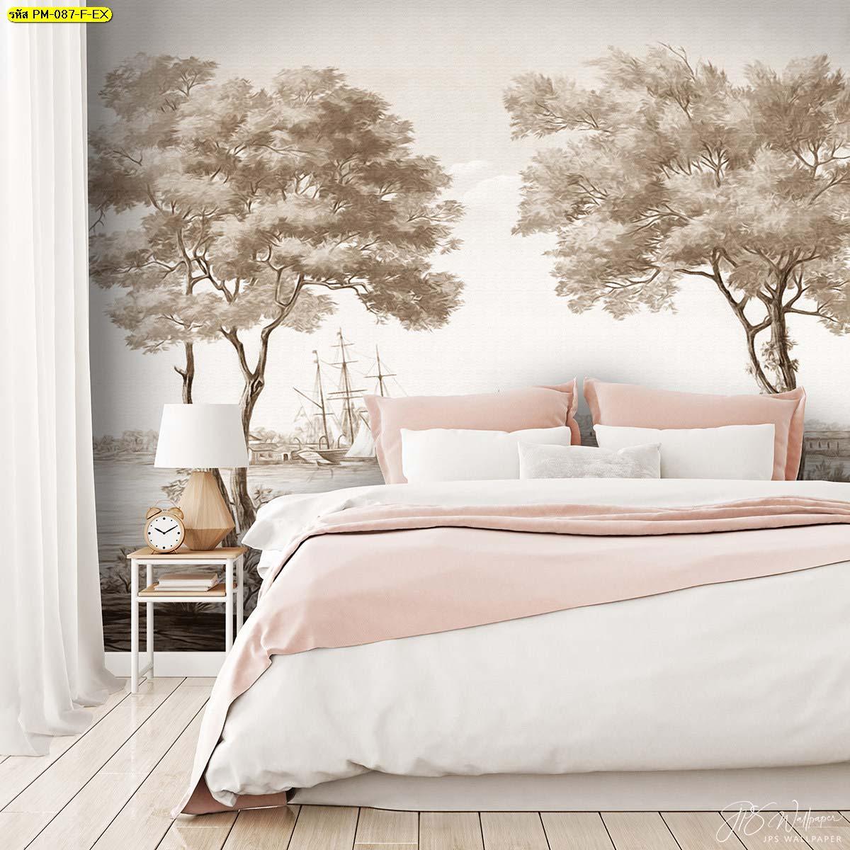 ไอเดียห้องนอนสีชมพู สั่งทำวอลเปเปอร์หลายไม่เหมือนใคร การตกแต่งห้องนอนด้วยวอลเปเปอร์