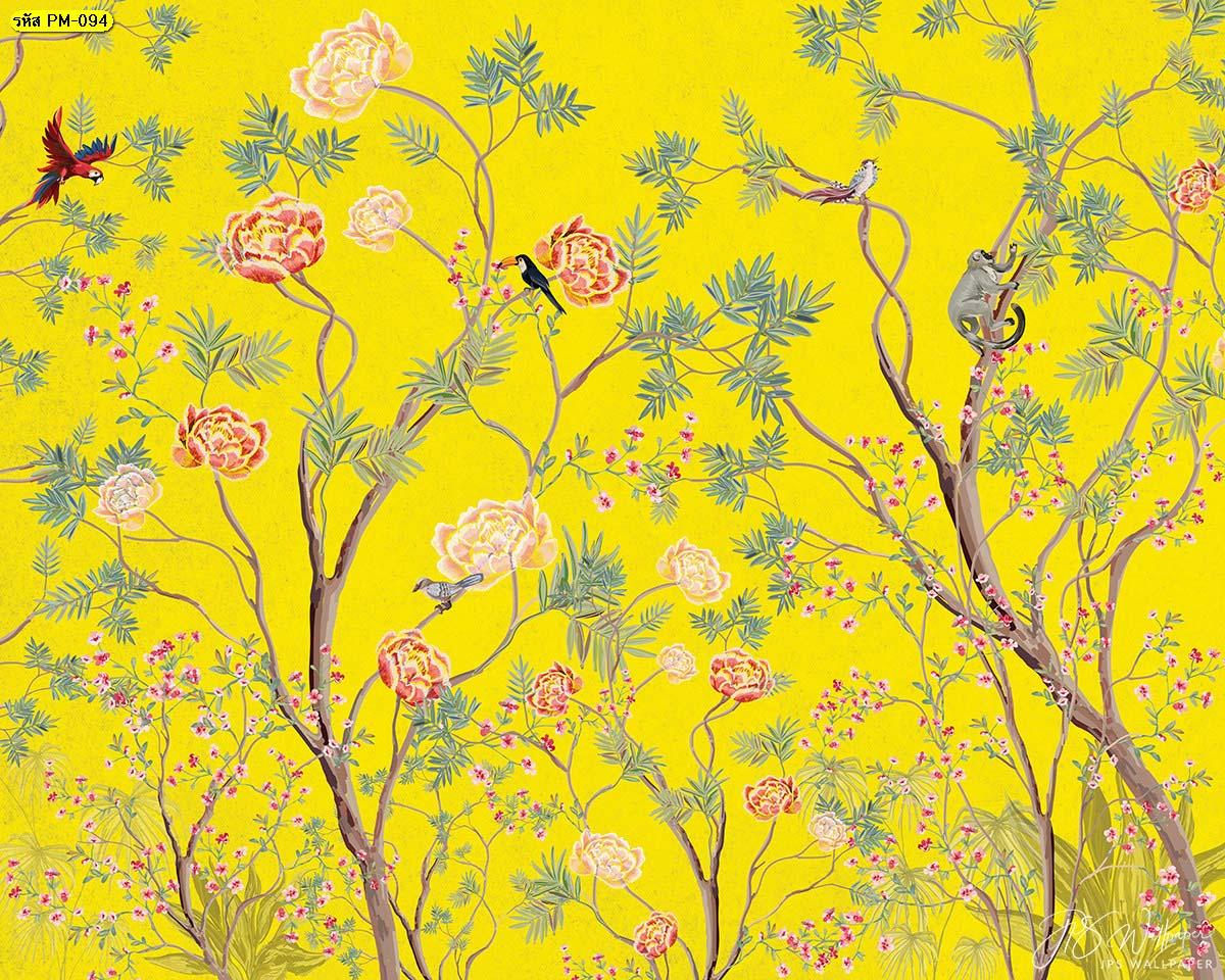 สั่งพิมพ์ภาพดอกไม้สีเหลือง สั่งทำภาพดอกไม้สีเหลือง Wallpaperสวยไม่ซ้ำใคร