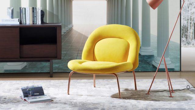 วอเปอร์เปอร์ผนัง ห้องนั่งเล่น ลายเสาโรมัน 3D