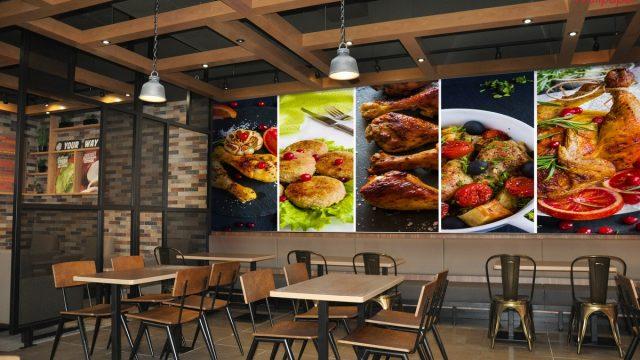Wallpaper สั่งทำราคาถูก ติดผนัง ร้านอาหาร ลายเมนูอาหาร