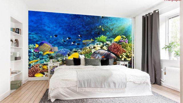วอเปอร์เปอร์สวยๆติดผนัง ติดหัวเตียง ลายใต้ทะเล
