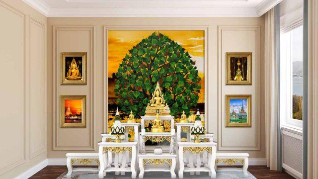 วอลเปเปอร์ห้องพระหรูๆ รับออกแบบวอลเปเปอร์ ภาพสั่งทำลายไทยสวยๆ
