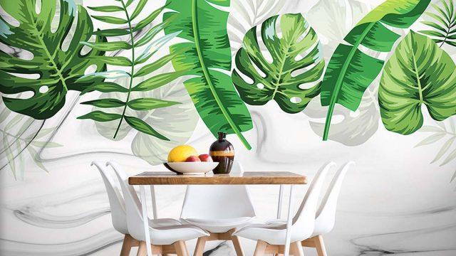 วอลเปเปอร์ห้องอาหาร Wallpaperสวยไม่ซ้ำใคร วอลเปเปอร์ติดผนังลายกราฟฟิก